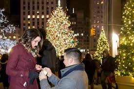 nyc proposal photography rockefeller center paparazzi proposals