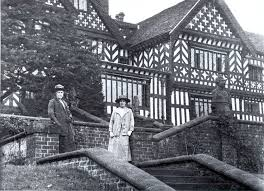 bramall hall manchester evening news two women standing on the east terrace of bramall hall c1914 courtesy of stockport image archive run by the heritage library 3 of 15