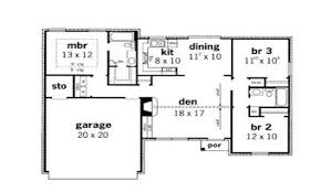 floor plan for small 1200 sf house with 3 bedrooms and 2 floor