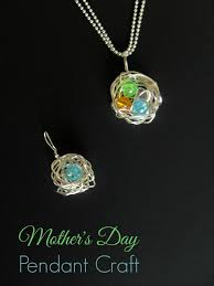 mothers pendant s day gifts diy nest birthstone s pendant