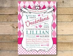Unique Birthday Invitation Cards Alice In Wonderland Birthday Invitations Blueklip Com