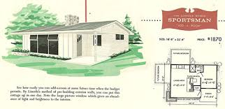 small vacation home floor plans factory built houses 28 pages of lincoln homes from 1955 retro