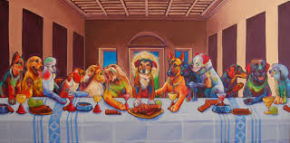 doggy supper bildanalyse abendmahl pinterest explore last supper famous art and more