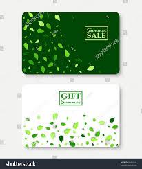 green gift voucher vector illustration summer sale gift summer card layout stock vector 685933246