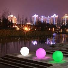 led spheres rgb color changing infrared remote