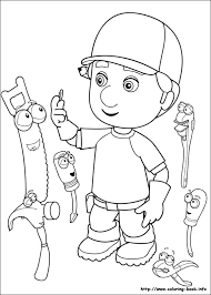 handy manny coloring pages coloring book