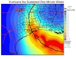 Houston Tx Zip Code Map Hurricane Ike Wind Analysis