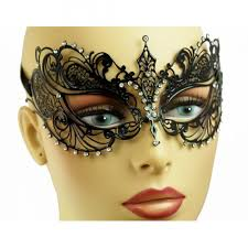 metal masquerade mask buy black laser cut metal masquerade mask with clear crystals