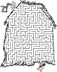 pigs fairy tale maze