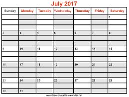 july 2017 calendar printable template social ebuzz