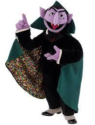 Mascot Costumes Halloween Free Shipping Sesame Street Count Von Count Vampire Mascot Costume