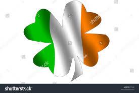 shamrock filled waving irish flag national stock illustration