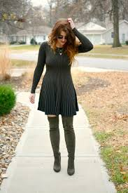 olive green sweater dress le stylo rouge