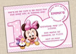 minnie mouse 1st birthday party invitations free printable
