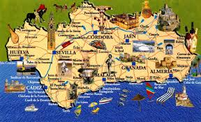 Andalucia Spain Map by Andalusia Another Bag More Travel