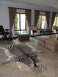 zebra printed goat skin accent rug calypso home 215 don u0027t get
