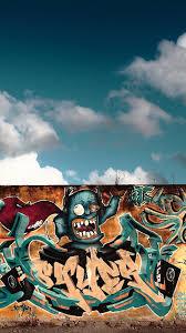 download wallpaper 1080x1920 graffiti wall city colorful sony
