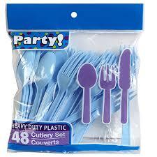 plastic utensils bulk light blue plastic utensils 48 ct bags at dollartree