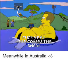 Fuck Yeah Memes - fuck yeah here come s the snag meanwhile in australia 3 meme