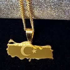 gold color necklace images Turkey map gold color necklace 1st culture jpg