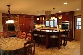 kitchen room design cooktop island seating modern kitchen