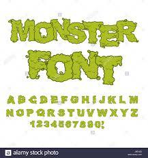 monster font horrible alphabet letters of green sweet