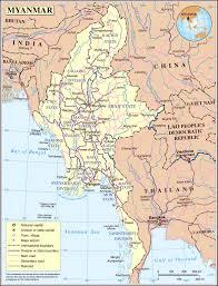 Nd Road Map Maps Of Myanmar Burma Detailed Map Of Myanmar In English