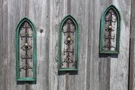 vintage wooden wall vintage wooden cathedral wall wall decor in 3 sizes