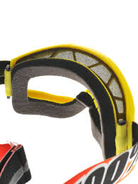 mirrored motocross goggles 100 percent new mx strata sunny days yellow red mirror tinted