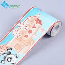 online get cheap adhesive wall prints aliexpress com alibaba group 0 1x10m cartoon panda waist line wall sticker pvc self adhesive wallpaper for kids room home