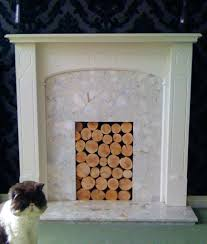 decorative fireplace logs ebay wood homebase feature decorative
