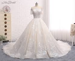 wedding dress pendek online shop luxury new wedding dress 2018 boat neck