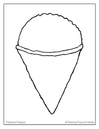 coloring page cone raspas snow cone coloring page by raining popcorn tpt