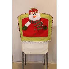 Christmas Chair Back Covers Christmas Chair Cover 3pcs Lot 3d Santa Snowman Elk Chair Back