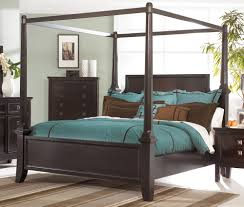 bedroom full black canopy bed be equipped with gorgeous brown