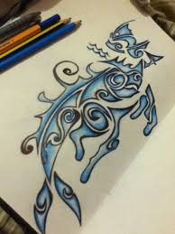 aquarius tribal mermaid design by maryobiago on deviantart