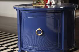 Krylon Short Cuts Spray Paint - high gloss painted blue drum table the resplendent crow
