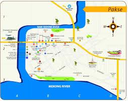 Map Of Laos Pakse