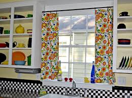 charming colorful kitchen curtains with bay window curtain