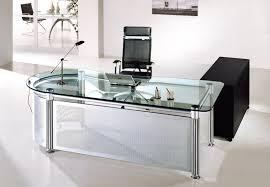 Modern Glass Desk With Drawers Desk Extraordinary Glass Top Office Desk 2017 Design Glass