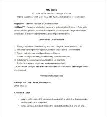 Day Care Experience On Resume Brilliant Ideas Of Sample Resume For Tutoring Position On Resume