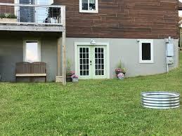 basement exterior concrete wall makeover creative cain cabin