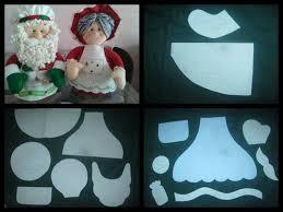 papa y mama noel tableros muñecos navideños pinterest