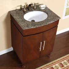 bathroom vanity single sink cabinet dark walnut finish benevola