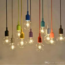 Diy Hanging Light Fixtures Modern Colorful Silicone Rubber Pendant Light E27 For Decor Diy