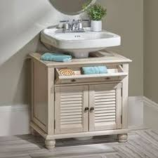 this is a brilliant way to cover up an ugly pedestal sink bath