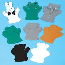 buy pre cut felt animal puppets shapes 30pk tts