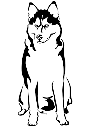 dog color pages printable with husky coloring page eson me