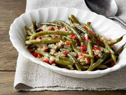 green beans with caramelized onions and almonds recipe