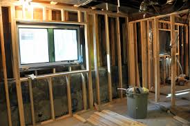framing a basement wall with a door home interior design simple
